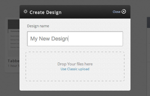 upload new design