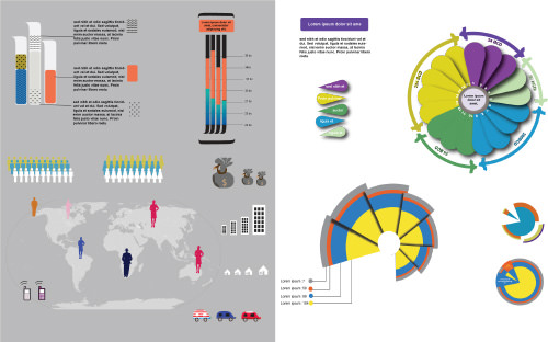 Infographic Icons, Bars, Pie-Charts & Graphs
