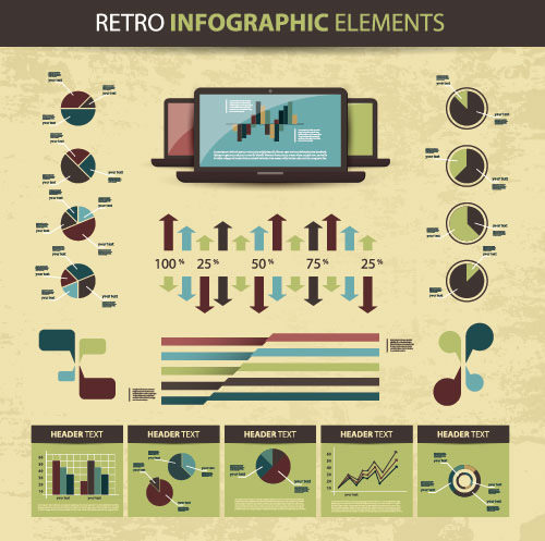Retro infographic Elements