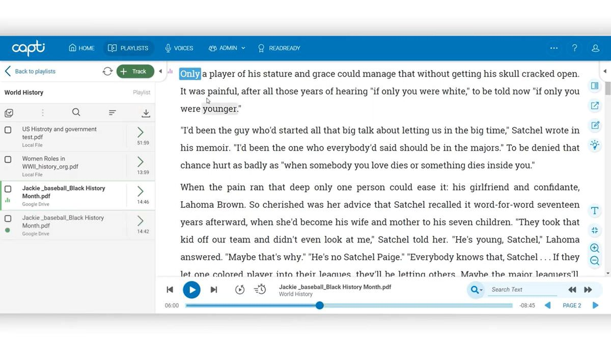 Capti offers text to speech productivity solution