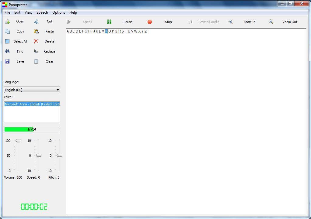 Panopreter Basic is a text to speech converter