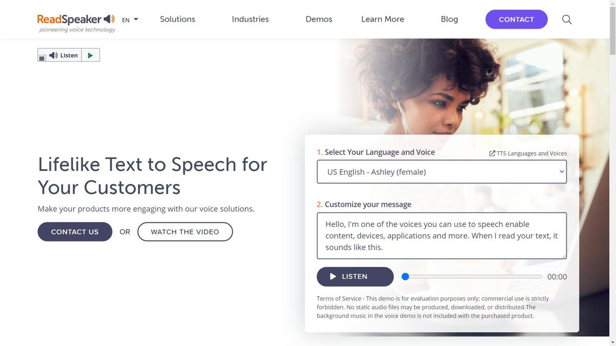 ReadSpeaker offers brilliant text-to-speech solutions