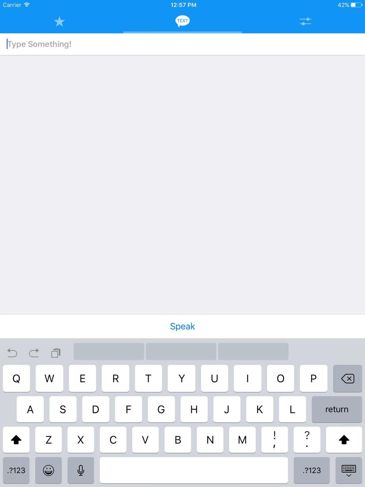 Text to Speech! is a text-to-speech app