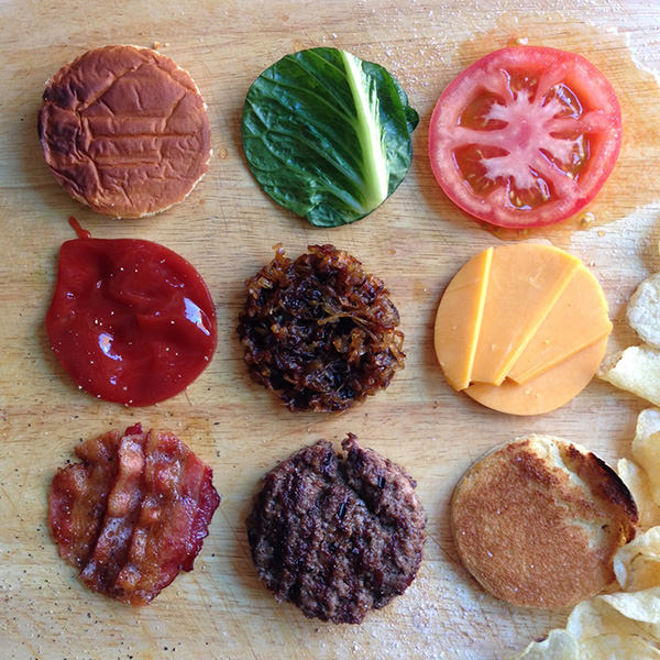 burger-organized-neatly