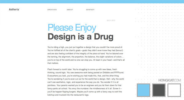 3-colors website design