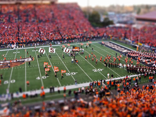 Oregon State Beavers Tilt-Shift Miniature