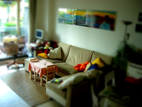 Miniature living room