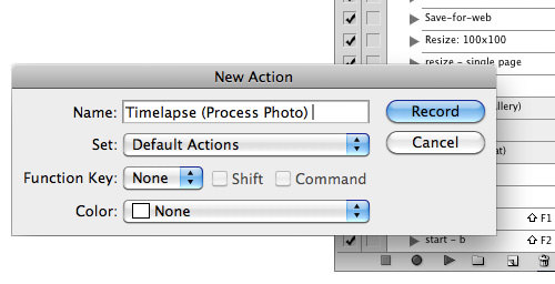 timelapse photoshop action