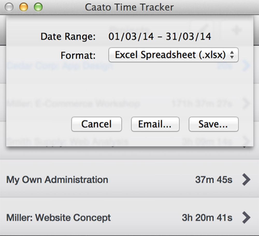 Caato Time Tracker