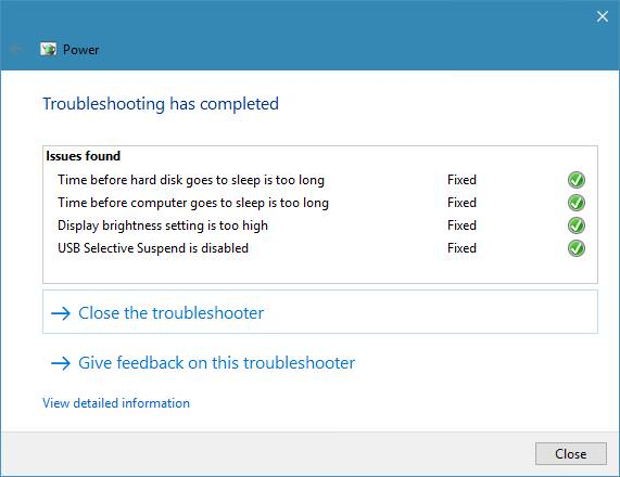Use the Troubleshooter