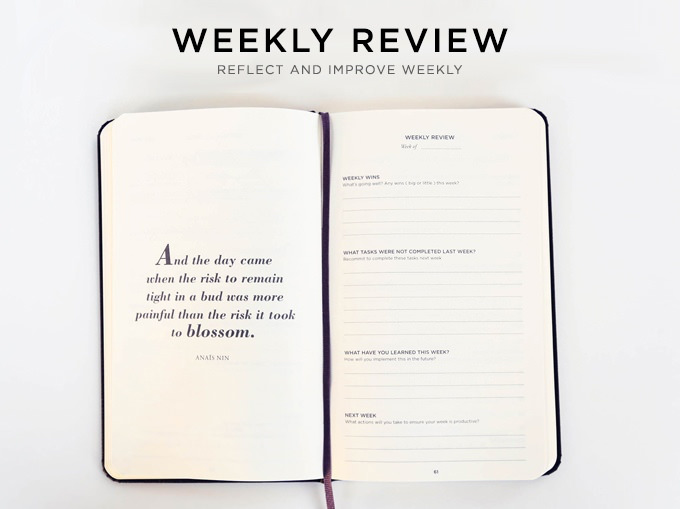 Productivity Planner Weekly Review
