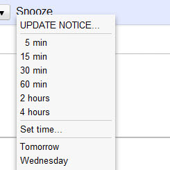 snooze your email for gmail