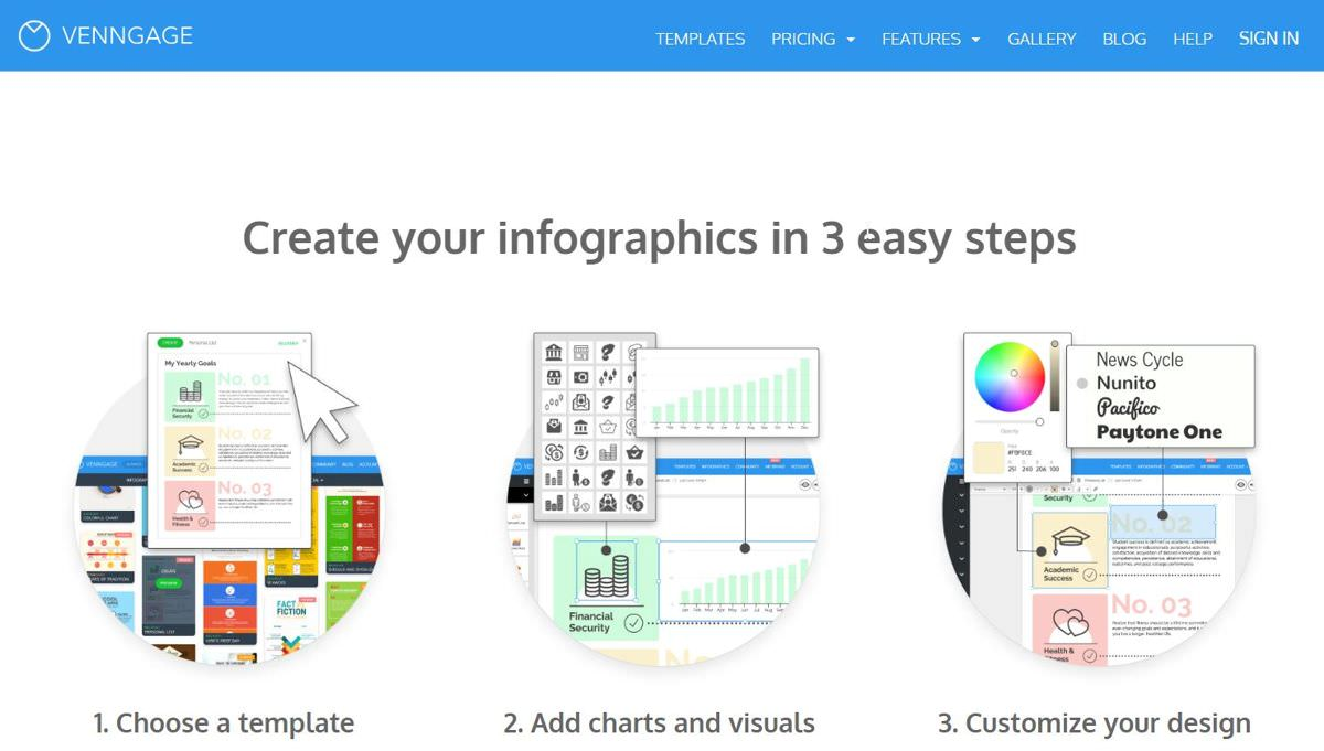 Venngage is a standard design tool