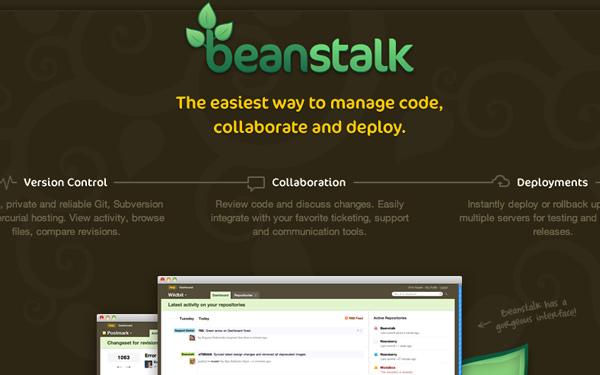 beanstalk code management webapp services