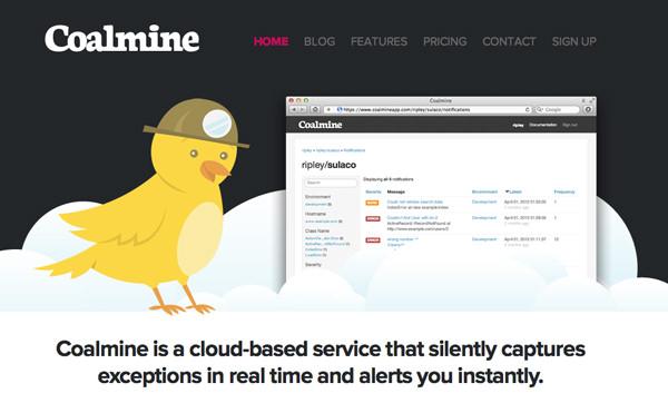coalmine app service startup exception handling