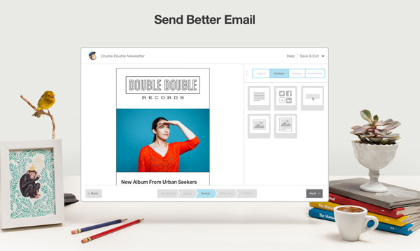 email newsletter marketing services mailchimp homepage