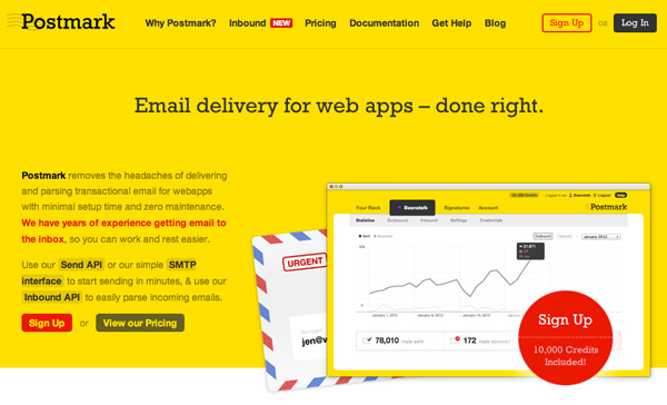 services email marketing hosting postmark webapp