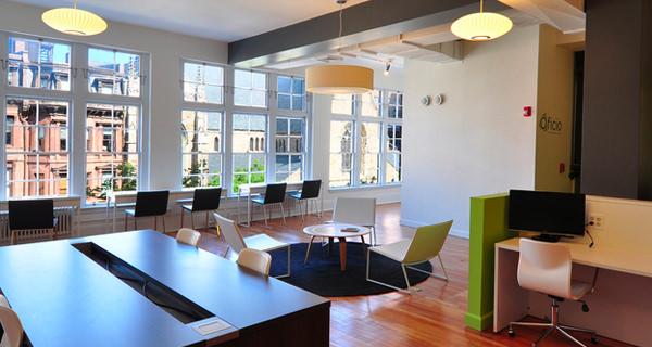 boston massachusetts coworking office space oficio desks photograph