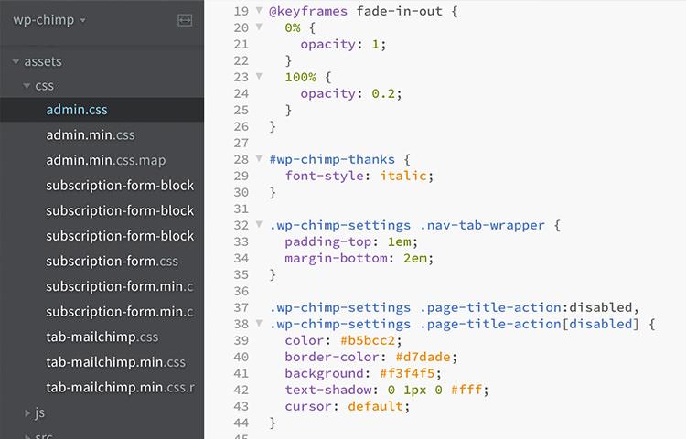 Barcket code editor to edit CSS