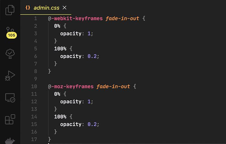 Visual Studio Code in macOS
