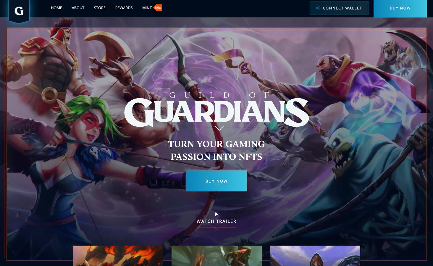 Best upcoming NFT games - Guild of Guardians