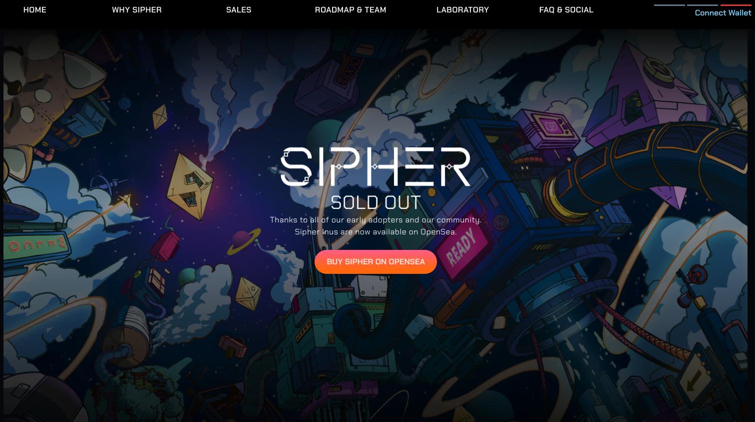 Best upcoming NFT games - Sipher.xyz