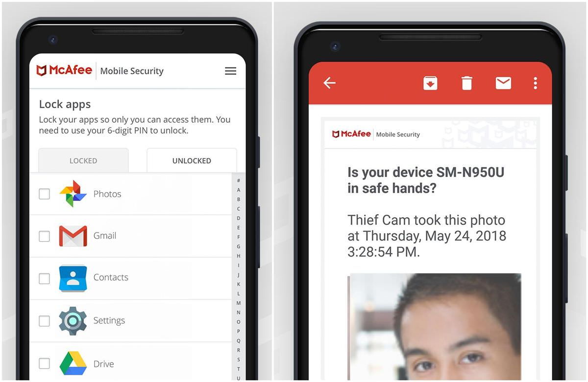 McAfee Mobile Security features App Lock and Guest Mode