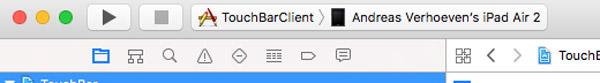 TouchBarClient on ipad