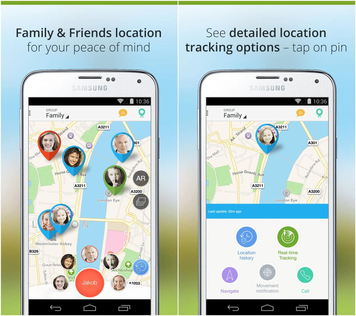 Family Locator helps tracking devices