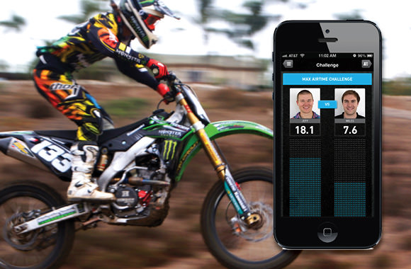 LIT app on motocross