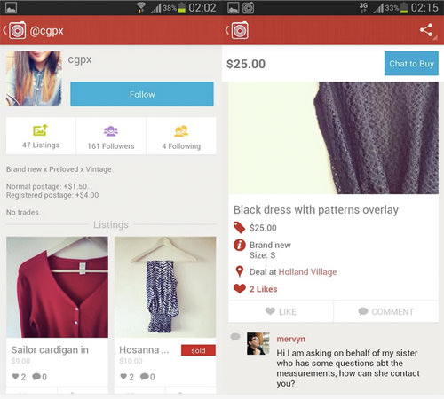 Carousell Profile