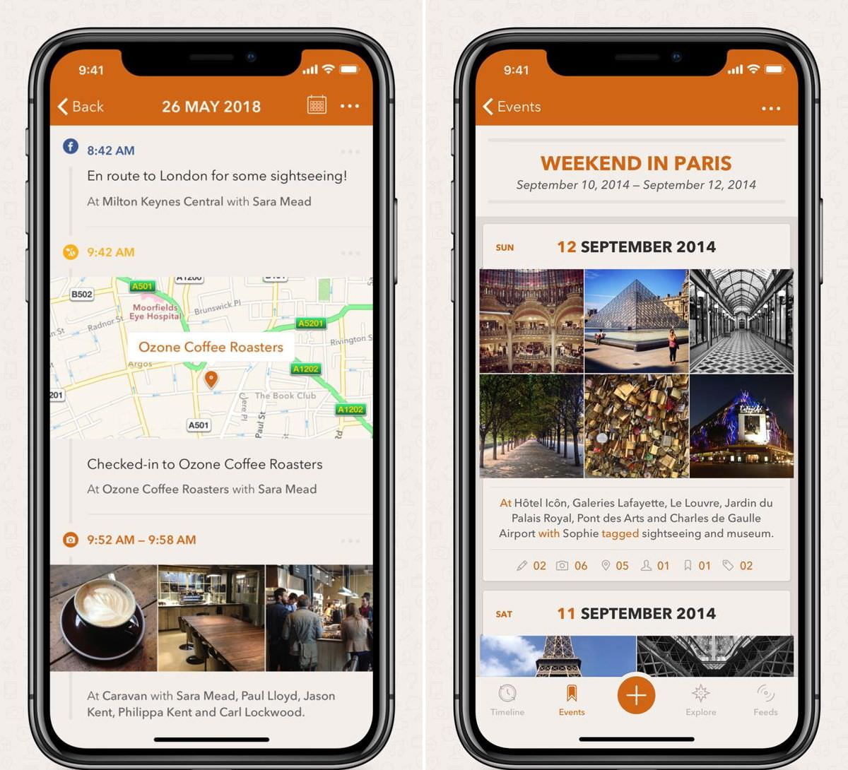 Momento is a travel diary for iPhone
