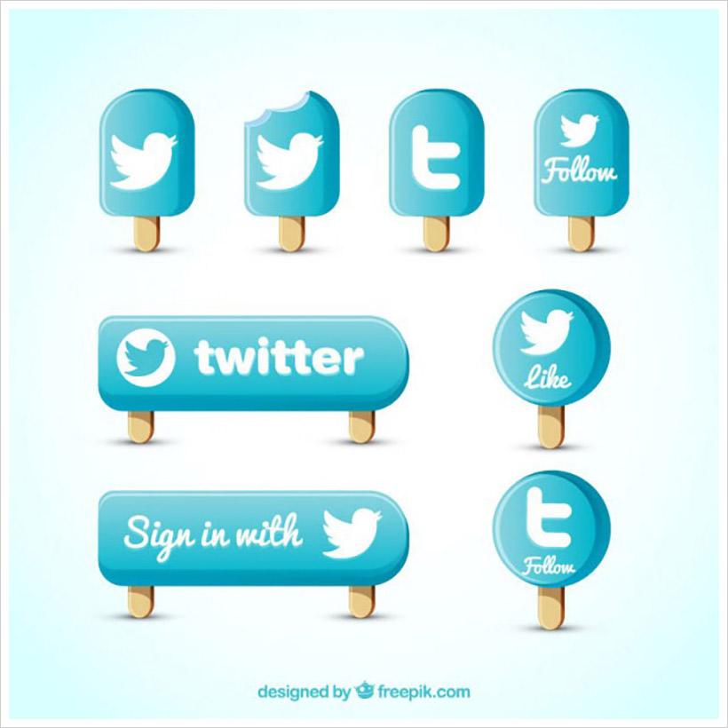 Twitter icon set I