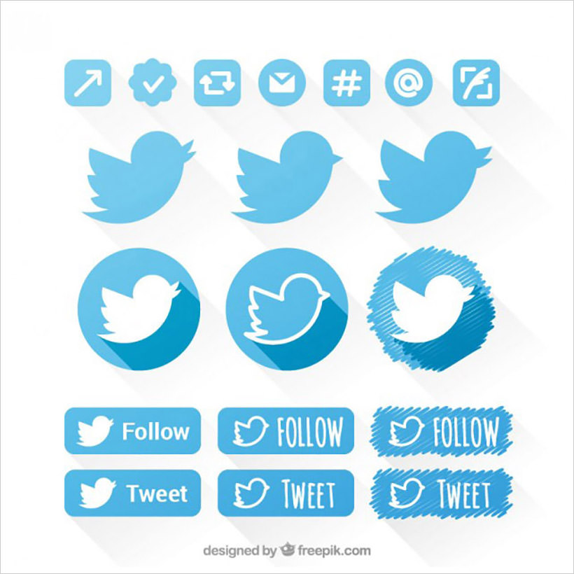 Twitter icons set II