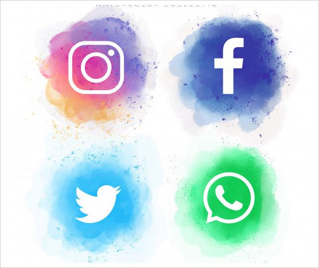 Watercolor Social Media Collection