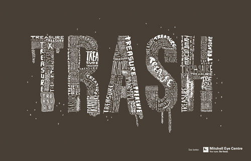 Typography-Based Print Ads
