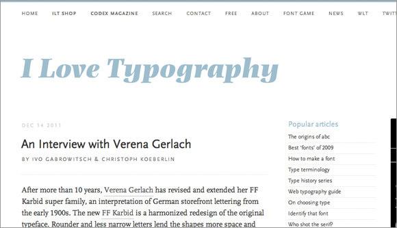 i love typography web blog design