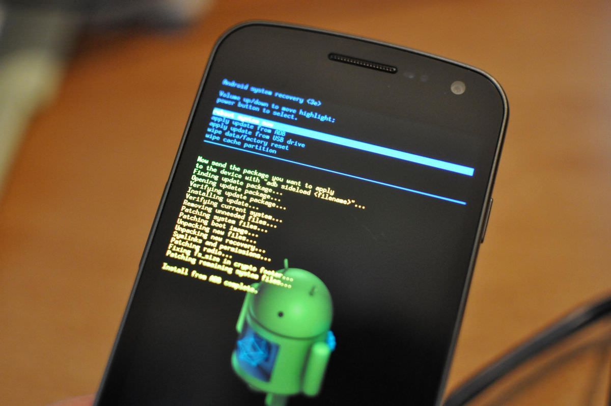 Perform factory reset via Android Recovery