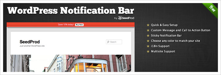 WordPress Notification Bar