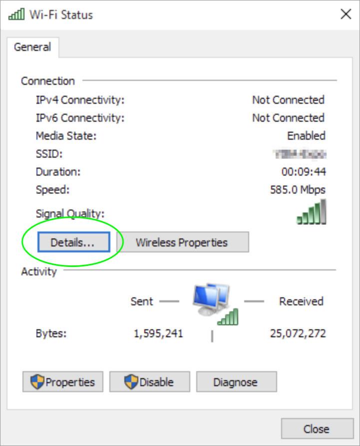 wifi status