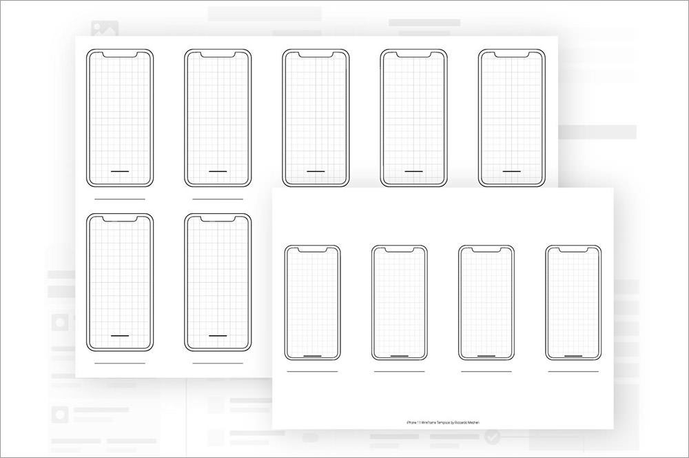 Phone 11 Wireframe Template