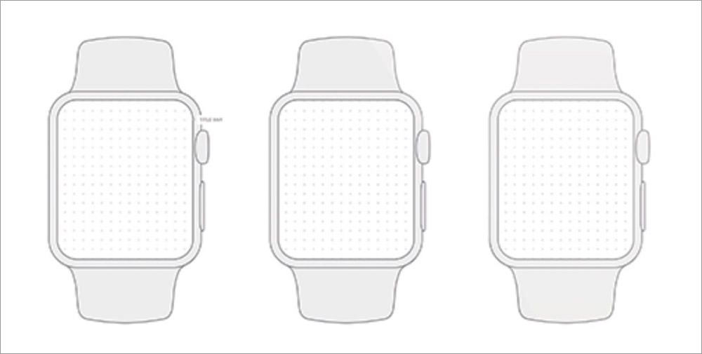 Apple Watch Wireframe Template