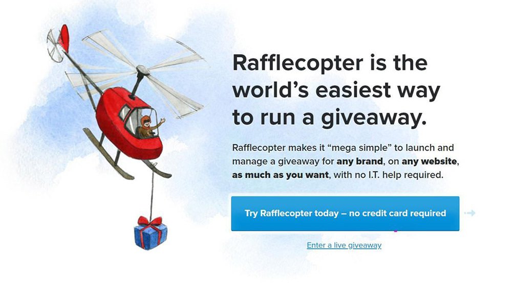Rafflecopter helps run giveaways and promotions