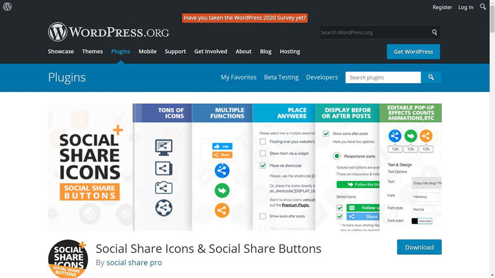 Social Share Icons helps create and show a sharing toolbar