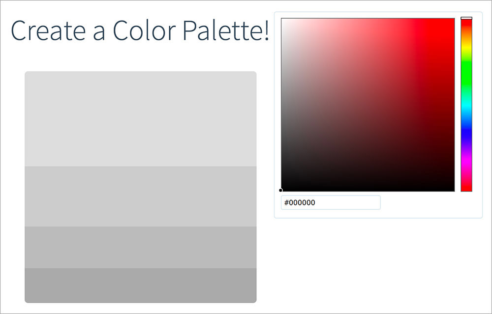 create your own color palettes