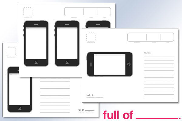 a very stylish iphone app template available in portrait and landscape orientations there are versions with single iphone mockups with plenty of space for - Ipad App Wireframe