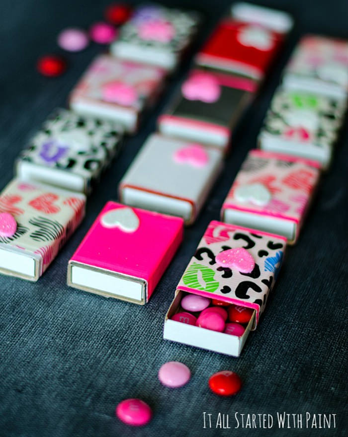 Matchbox Valentine with Duct Tape