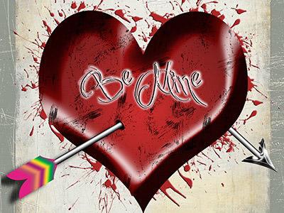 grunge valentine's design