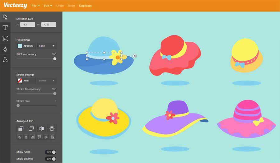 screenshot of vecteezy editor