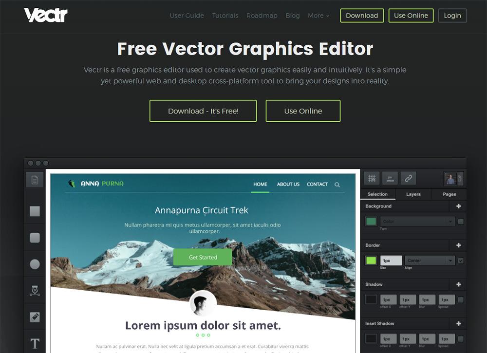 vectr homepage